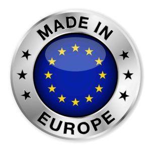 Kreis mit blauen Mitte Made in europa